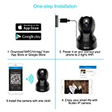 Dome Kamera - Atuten WiFi IP Kamera 1080P WLAN Überwachungskamera,Smart Home Kamera mit Nachtsicht,Auto-Rotation,2 Wege Audio,Bewegungsalarm,64G TF Card, Baby Monitor, Kompatible mit Alexa Echo Show - 2