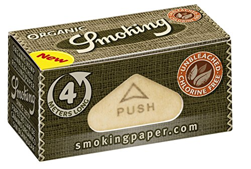 Smoking Organic Rolls Endlospapier aus Bio-Hanf 4m Länge 1 Box (24 Rolls) -