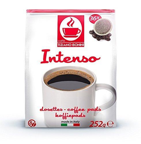 Find Bonini Coffee Pads for Senseo - Intenso 2 x 36 Pods (72 Pods, 504g) - Caffè Tiziano Bonini