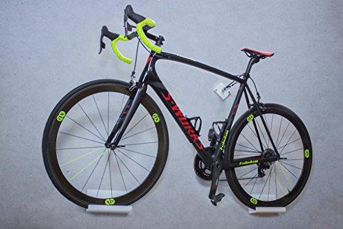 trelixx Fahrrad Wandhalter weiß Plexiglas® Acrylglas, platzsparende Fahrradaufbewahrung, Design Radhalter Wandmontage -