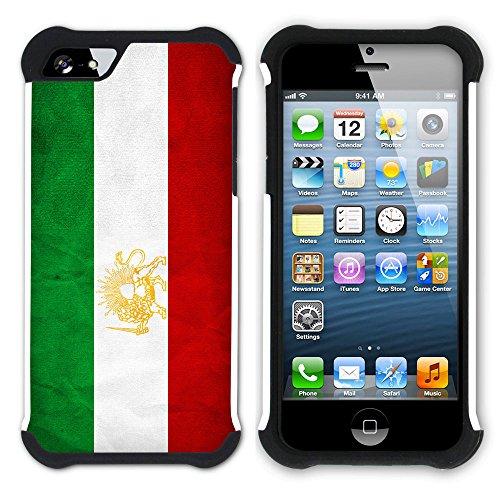 Graphic4You Vintage Uralt Flagge Von Turkey Türkisch Design Hart + Weiche Kratzfeste Hülle Case Schale Tasche Schutzhülle für Apple iPhone SE / 5 / 5S Iran Iraner