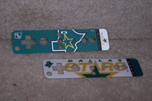 Dallas Stars Logo Nintendo Wii U Remote NHL Dual Image Holographic Skin Covers - Set of 2 by Mad Catz