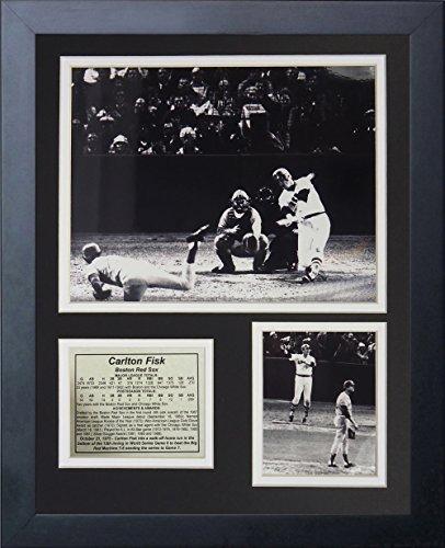 Legenden Sterben Nie 1975Carlton Fisk Home Run gerahmtes Foto Collage, 11x 35,6cm -