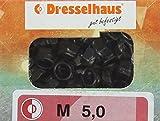 Dresselhaus Sechskantsicherungsmuttern mit Kunststoffring DIN 985, M 5, 100 Stück, galvanasiert verzinkt