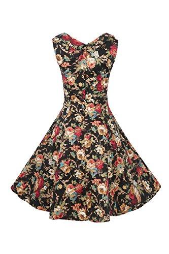 Babyonline® Damen Ärmellos 1950er Retro Kleider Vintage Hausfrau ...