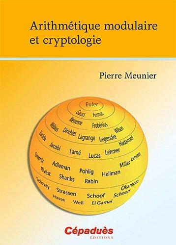 Arithmétique modulaire et cryptologie