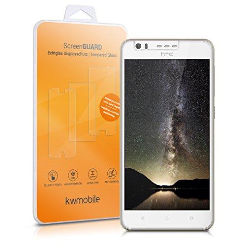 kwmobile HTC Desire 10 Lifestyle Folie - Glas Handy Schutzfolie für HTC Desire 10 Lifestyle - Full Screen Bildschirm Schutz