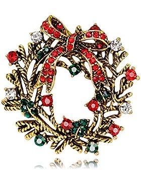 Poppy Brosche–Goldauflage und Swarovski-Kristalle Brosche Weihnachten Party Dekoration Ornament