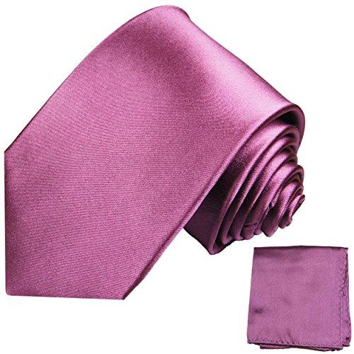 Cravate mauve uni ensemble de cravate 2 Pièces ( longueur 165cm )