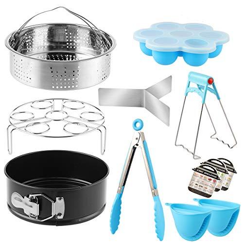 Accessoires pour autocuiseurs, accessoire compatible avec pot instantané, panier à vapeur, moule à gâteau, moule à œufs, moules magnétiques, etc. en acier inoxydable de qualité alimentaire