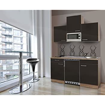respekta KB150ESGMI Single Mini Kitchen Unit Kitchen Island 150 cm /  Fresh-Sawn Oak /