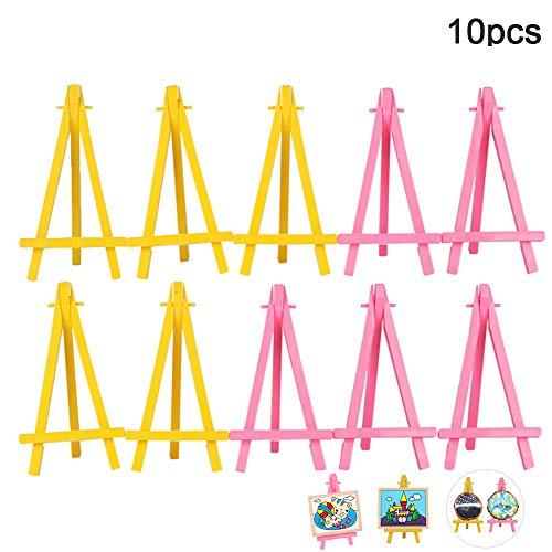 Mini-Staffelei, Handy-Ständer, Foto-Malerei, für Malerei, Visitenkarten, Ständer, Ständer, Ständer, Stativ, Ständer, tragbar, 10 Stück
