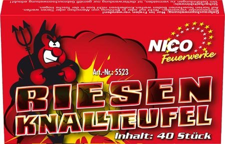 Nico Fireworks Knallteufel (Pack of 40 Bangers) [Instructions may not be in English]