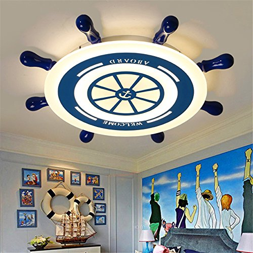 BRFVCS ceiling light Kreative Kinderzimmer Licht Ruder minimalistischer mediterraner Stil Jungen und Mädchen blaue LED Deckenleuchten 55*6,5 cm Schlafzimmer