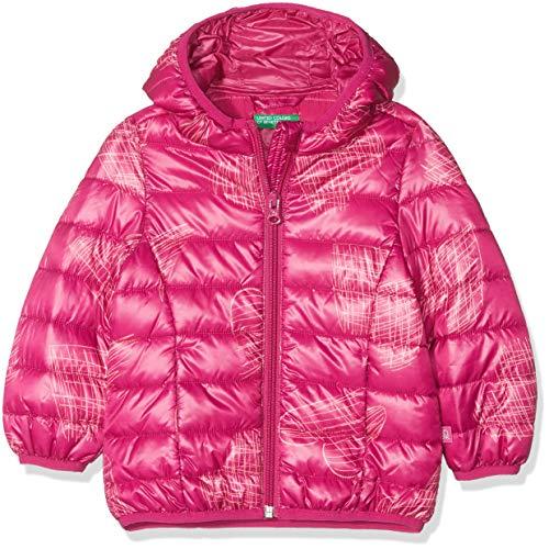 United Colors of Benetton Mädchen Jacke Jacket Fuchsia - All-Over 110 (Herstellergröße: XS)