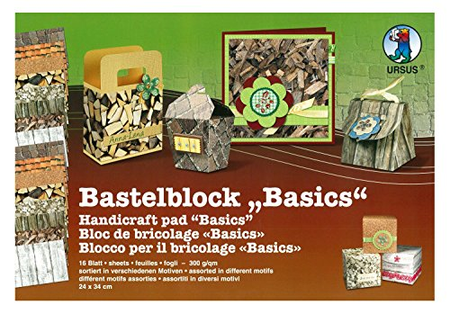 """Bastelblock """"Basics"""" 24 x 34 cm 300g/m² mit 16 Blatt aus verschiedenen Motiven"""