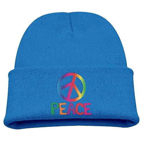 Regenbogen-Frieden und Liebe des Kindes Anti-Kriegswinter-Strickmütze Beanie Skull Cap ()