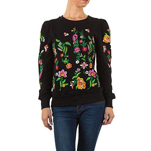 Besticktes Sweatshirt Für Damen , Schwarz In Gr. M bei Ital-Design (Bestickte Jumper)