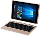 Venturer BravoWin 10K 10.1-inch 2 in 1 Touchscreen Detachable Laptop|Tablet (Atom Z3735F/2GB/32GB/Windows 10/Pre Installed Lifetime MS Office/HDMI/Integrated Graphics), Gold