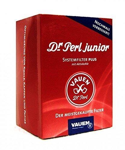 Dr. Perl Filter Junior Aktivkohlefilter groß-9 mm-Ju-Max 4 x 180er, Kohlenstoff, Rot 10 x 8 x 5 cm