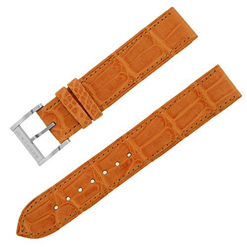 BEDAT & CO 16–16mm orange matt ECHT Alligator Leder Damen-Armbanduhr Band