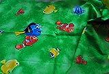 100% Baumwolle Material Disney Findet Nemo/Dory - grün -