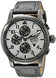 Ingersoll Unisex Automatik Uhr mit grauem Zifferblatt Analog-Anzeige und grau Lederband in1221gugy