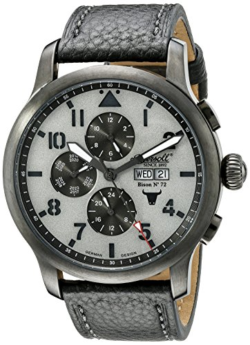 Ingersoll Unisex Automatic Watch with Grey Dial Analogue Display and Grey Leather Strap IN1221GUGY