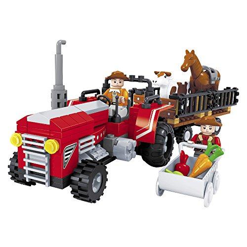 Ausini - Juego de construcción Tractor con granjero & remolque - 215 piezas (ColorBaby 42823)