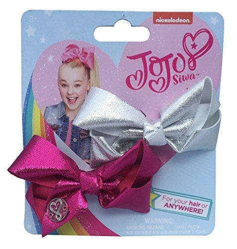 (JoJo Siwa 2 Mini Pink Silber Bögen Unterschrift Haar Kleidung Mode-Accessoires)
