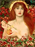 Canvas print 30 x 40 cm: Venus Verticordia by Dante Charles Gabriel Rossetti / akg-images - ready-to-hang wall picture, stretched on canvas frame, printed image on pure canvas fabric, canvas print