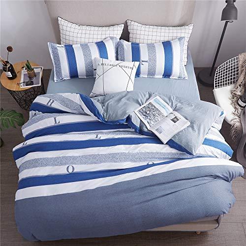 YUNSW Einfache Streifen Stil Moderne Bettwäsche Baumwolle Doppel Königin King Size Bettbezug Quilts Bettbezug EIN 180x220 cm -