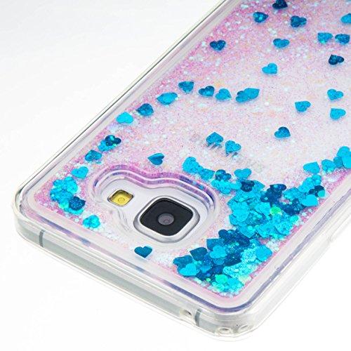 für Samsung Galaxy A5 (6) SM-A510F (2016) Hülle, 3D Fließen Flüssig Schwimmend Treibsand Stern Bling Luxus Shiny Glanz Sparkle Kristall Crystal Bunte der Liebe Design zurück Tasche Schutzhülle für Sam 8
