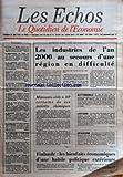 Telecharger Livres ECHOS LES No 12646 du 23 06 1978 RAYMOND BARRE DANS LES PYRENEES ATLANTIQUES LES INDUSTRIES DE L AN 2000 AU SECOURS D UNE REGION EN DIFFICULTE MONSANTO CEDE A BP CERTAINS DE SES INTERETS CHIMIQUES AUTOMOBILE LOYERS EPARGNE FINLANDE LES BIENFAITS ECONOMIQUES D UNE HABILE POLITIQUE EXTERIEURE SOMMAIRE SOCIAL AMENAGEMENT DU TEMPS DE TRAVAIL LES BANQUES POPULAIRES ET L EPARGNE BOUSSAC LES BANQUES S EXPLIQUENT CREATIONS D ENTREPRISES CEREALIERS OFFENSIVE CONTRE LE MAN (PDF,EPUB,MOBI) gratuits en Francaise