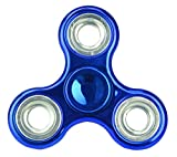 Christmas Concepts® - Exklusives Fidget Hand Spinner - Stress Reducer, Stress Relief, Autismus - METALLIC BLAU
