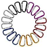 18 Stück 6CM Karabiner Schlüsselanhänger, GIMARS Mini Karabinerhaken Alu klein Schlüssel Karabiner (18 Stück) -