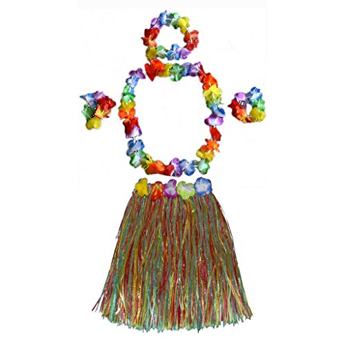 Kinder Hawaiianische tropische Hula Rock Stirnband Garland Armband für Partei Kostüm