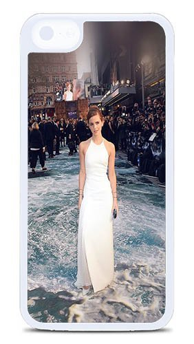 iPhone 5C Case - Emma Watson Full Film Girl Face Custom 5C Case Hard Plastic White J-15