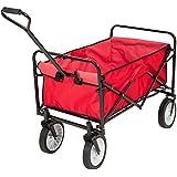 chariot de jardin charrette main rouge pliable chariot transport bricolage. Black Bedroom Furniture Sets. Home Design Ideas