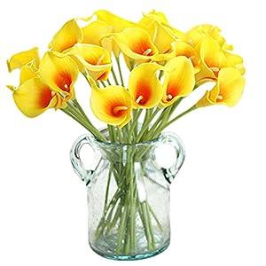 Gysad 10 Piezas Ramos de Flores Artificiales Lirio de cala Flores Artificiales Decoración Decoración creativa para el…
