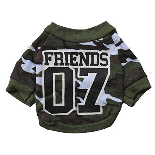 Loveso-Huastier Hunde Kleider Bekleidung Haustier-Welpen Hot Dogs Mantel Overall-weiche warme Baumwolle Camouflage-Kleidung (S, Tarnung)