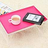 Stylish Portable Breakfast Tray Cum Table Foldable Desk Sofa Bed Tray Table Stand Tray ~ Multi Color