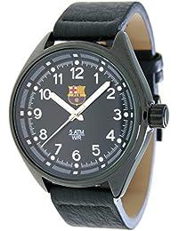 RADIANT Reloj analógico de caballero F.C.BARCELONA - Correa de piel - Negro - BA-12601 Pilot