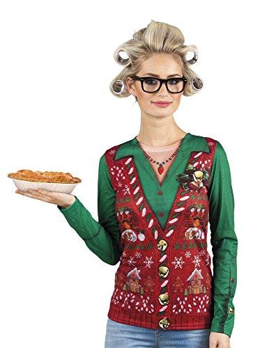 Boland 84352 Photorealistisches Shirt Corny Xmas, womens, L