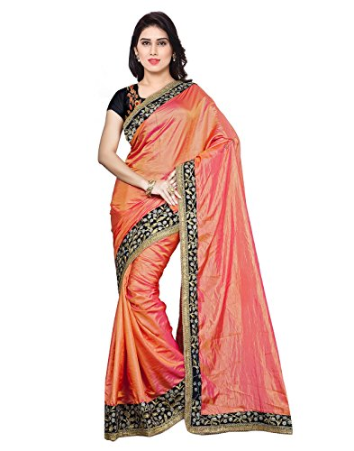 7thWonder Pink Color Paper Silk Embroidered Party Wear Saree with Heavy Work Blouse Piece-7WI135SENX-28