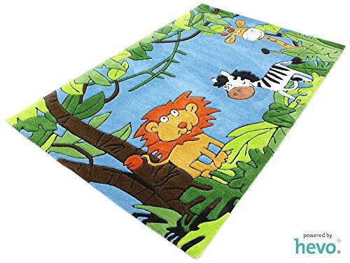 dschungel teppich Dschungel HEVO® Handtuft Teppich | Kinderteppich | Spielteppich | Oeko Tex 100 150x220 cm