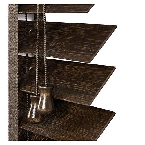 Bambus Jalousien Schlafzimmer Wohnzimmer Studie Wasserdichte Massivholz Jalousien Schattierung 2 Farbe Multi-Size-Brauch Atmungsaktivität (Farbe : A, größe : 100x160cm) (Schlafzimmer Für Jalousien)