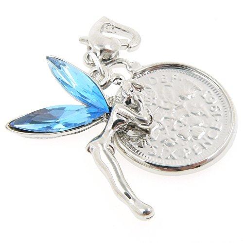 Anlässe Emporium Kristall Flügel Fee und Sixpence Strumpfband Charme (Hochzeit Fee Flügel)