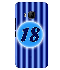 Fuson 3D Printed Numerology Designer back case cover for HTC One M9 - D4236