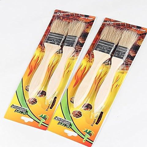 Barbecue pennello olio da cucina ad alta temperatura non lasci residui di cottura piccola spazzola Oil Tools fornisce gli accessori di condimento alimentare Brush ( colore : A )